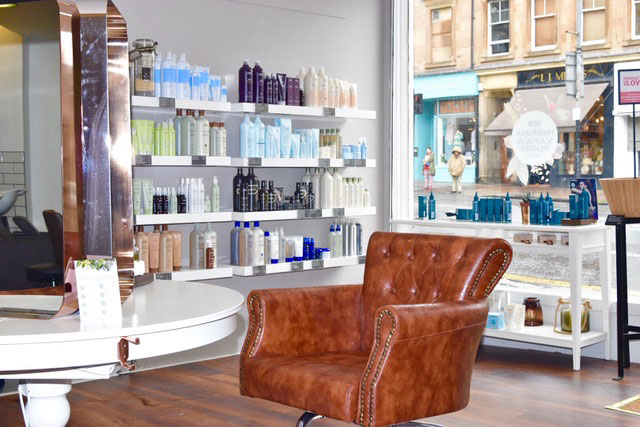 aveda salon Glasgow, westend hair