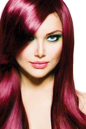 Straight shiny hair, top hair colour salon Glasgow
