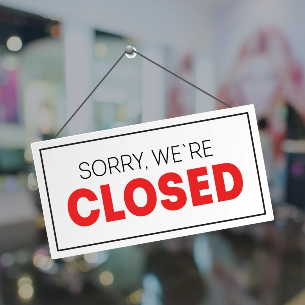 With Sadness – We Are Temporarily Closed.