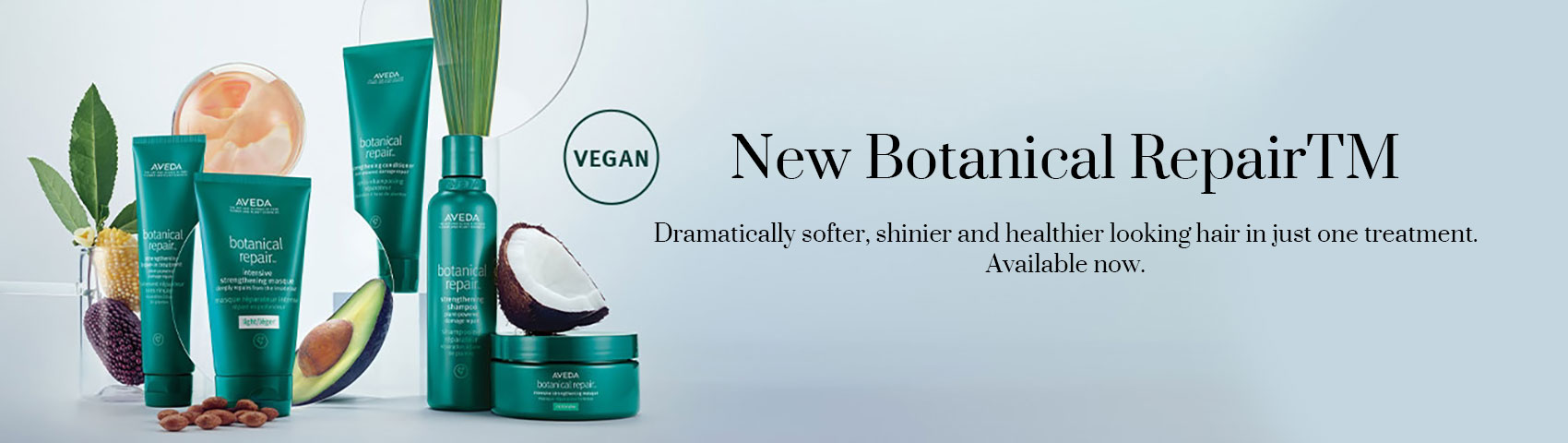 Dramatically softer shinier and healthier looking hair in just one treatment. Available now