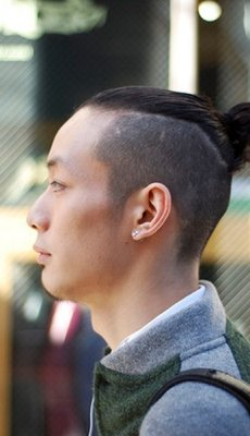 shaved-sides-top-knot